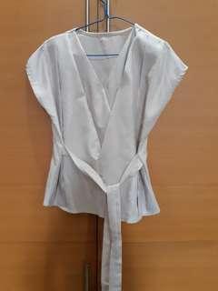 Broken white kimono top