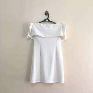 OFF-SHOULDER WHITE DRESS FOR RENT