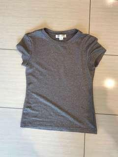 ✨ Silver sparkly t-shirt | size XS | Lulu and Rose