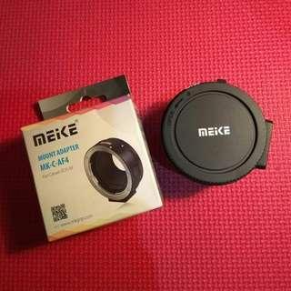Adapter Lensa Meike untuk lensa DSLR ke Mirrorless Canon