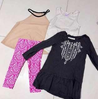 Set 4 pcs girl clothes