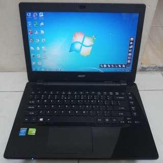 Laptop Desain Acer E5-471G Core i3 Ram 2GB Hdd 500GB Nvdi GeForce 820M