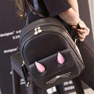 WOMEN'S CASUAL MIMI CAT EAR CARTOON SHOULDER BACKPACK BAG