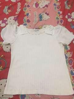 healthy karen top baju putih  tidak tembus pandang white shirt