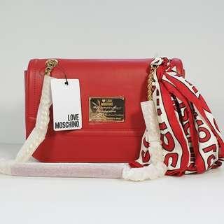 🚚 Clerance Sale! Love Moschino - Borsa Calf PU Rosso Shoulder/Crossbody