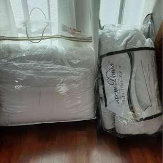 Used laundry washed queen size quilts for sale