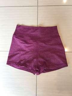 Musclenation XS BERRY scrunch bum booty shorts