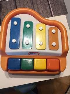 幼兒學習玩具little tikes 琴鍵 練小肌肉