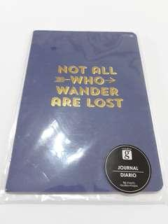 Blue/Gold Not All Who Wander Are Lost Notebook