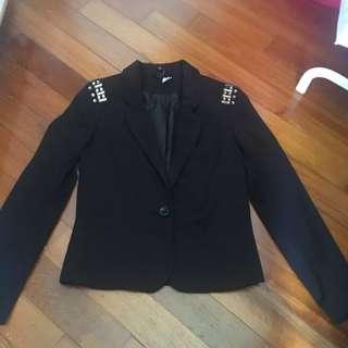 🚚 H&M Black Embellished Blazer