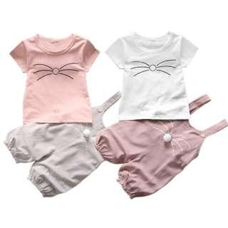 New Baby Girls Summer Cute Cotton Outfit