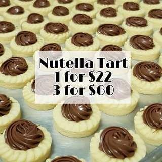 🚚 50 pcs Freshly Baked Nutella Tarts