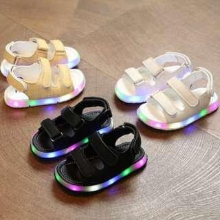 Boys & Girls LED Sandals Casual PU Shoes