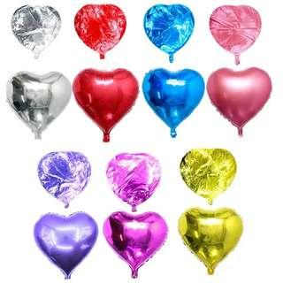 Foil Hearts Helium Balloons