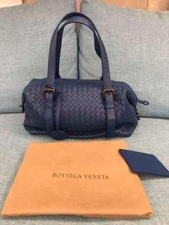 Bottega Veneta BV 寶藍色 蒙恬包 編織包 手提包 肩背包