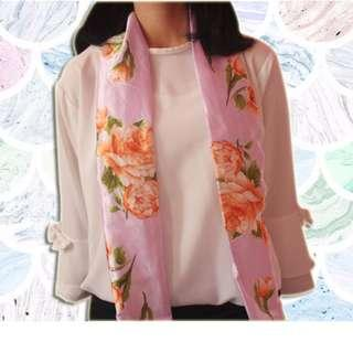 Baby Silk Long Pink Scarf (New)