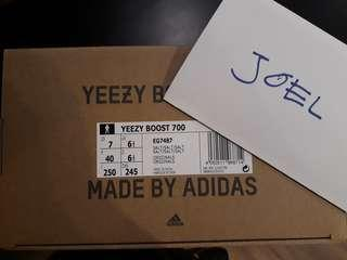 7US, 9US, 10US Adidas Yeezy 700 Salt