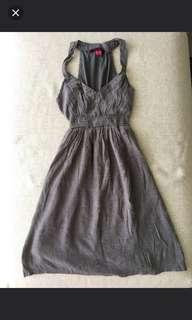 BNWOT Grey Halter Dress