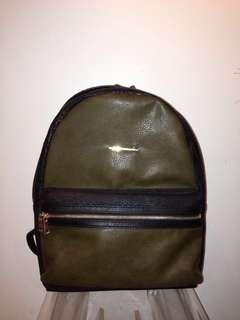 New green black backpack