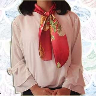 Baby Silk Red Scarf (New)