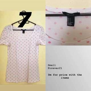 Forever 21 polka pinkntop