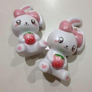 Bunnyscafe Strawberry Mascot Squishy