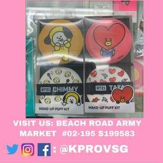 [INSTOCK] BTS BT21 X OLIVEYOUNG MAKEUP KIT PUFF