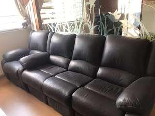 Leather Sofa set with two recliners