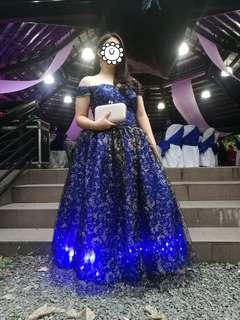 Glowing Royal Blue Gown