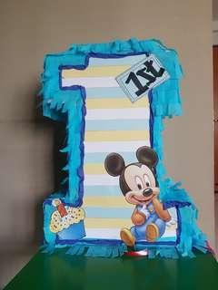 Pinata/Number 1 Pinata/Mickey Mouse pinata