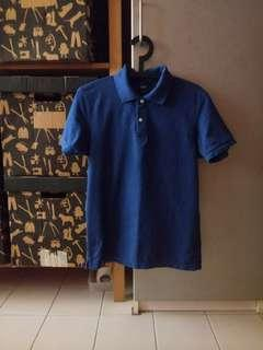 Blue Uniqlo Polo Tee
