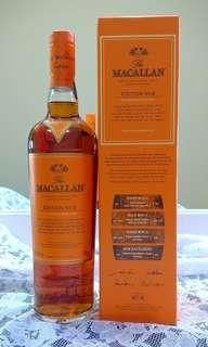 Macallan edition No. 2 single malt scotch whisky