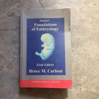 Patten's Foundations of Embryology Sixth Edition by Bruce M. Carlson