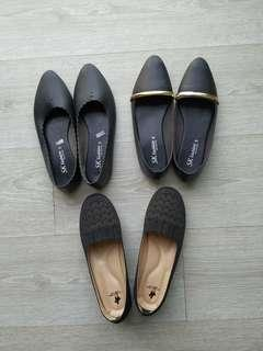 3 Pairs of Black Shoes Flats #SparkJoyChallenge