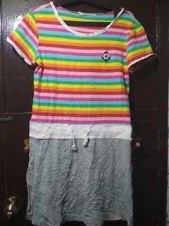 Summer Dress Stripes Rainbow color XL (tagsize)