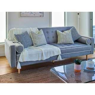 3 SEATER FABRIC FUTON SOFA BED, FAST DELIVERY