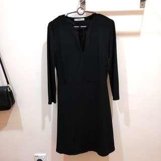 Mango Suit Tied Front Black Dress #FEBP55