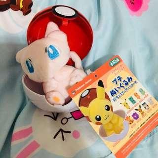 (日本帶回) Pokemon Center 精靈球 毛公仔 (日本 Pokemon Center 限定) 比卡超 夢夢 車厘龜 小火龍 卡比獸 伊貝 六尾