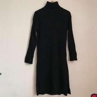 🚚 高領坑條毛衣裙(有實穿圖