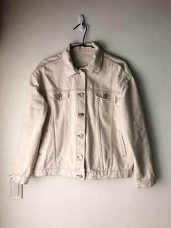 🚚 韓國米白牛仔外套