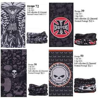 Biker Bandana: 1 for $4/- and 3 for $10/- (Many other cool designs available)