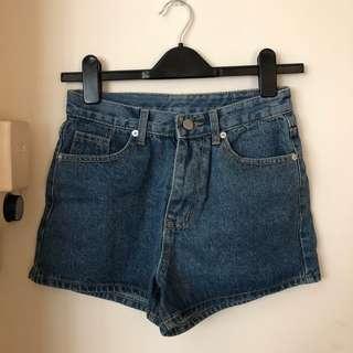🚚 Basic High Waisted Denim Shorts