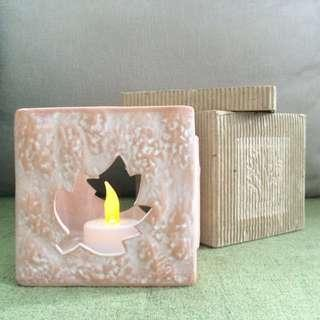 珊瑚色蠟燭座
