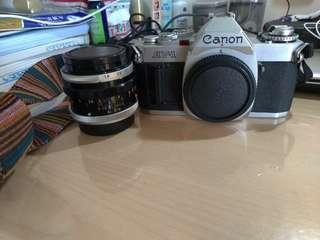 🚚 Canon av-1 +  FL 50mm F1.8 底片相機
