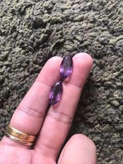 🚚 12 Carats Bolivian Amethyst Pair for Earrings