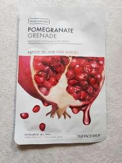 FACESHOP pomegranate masks