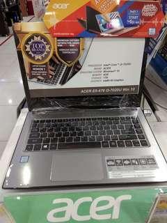 Laptop Acer E5-476 i3 Bisa Kredit Bunga Ringan