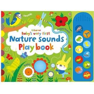 [BN] Usborne- BBaby's very first nature sounds playbook