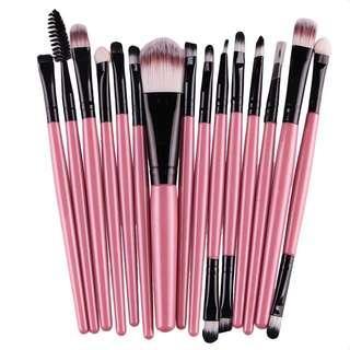 15pcs professional makeup brushes