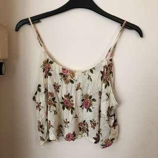 🚚 Forever 21 Floral Cropped Cami Top